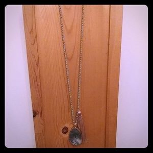 NWT Semi-Precious Natural Stone Necklace